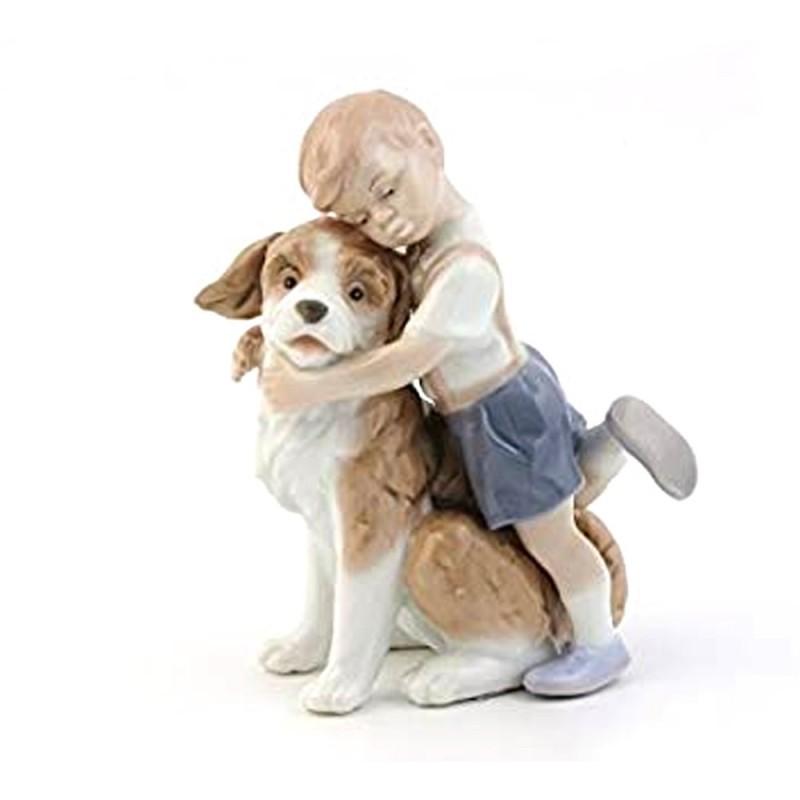 Morena bimbo con cagnolino - D7186