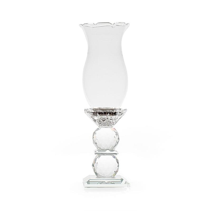 Hervit portacandela cristallo sfaccettato 24cm 26909