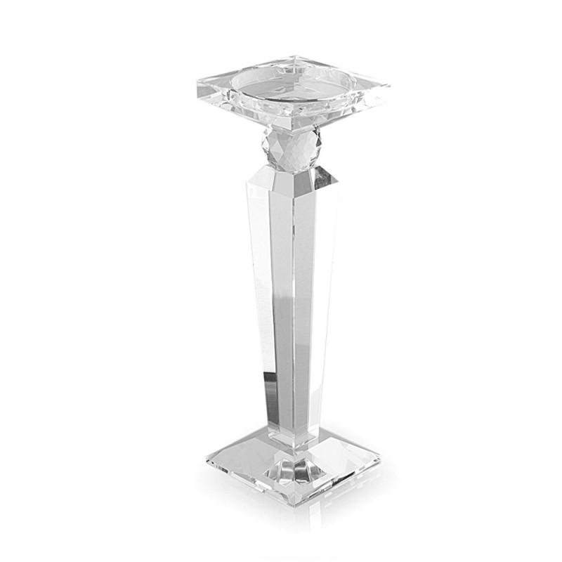 hervit portacandela cristallo obelisco 36 cm 23260