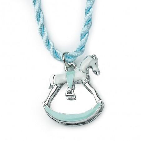 Hervit pendente cavallo metallo blu argento 4cm - Candida ...