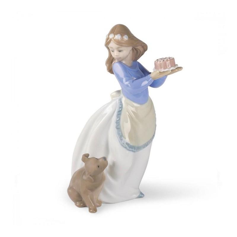 """Nao - statua in porcellana """"Compleanno del cane"""""""