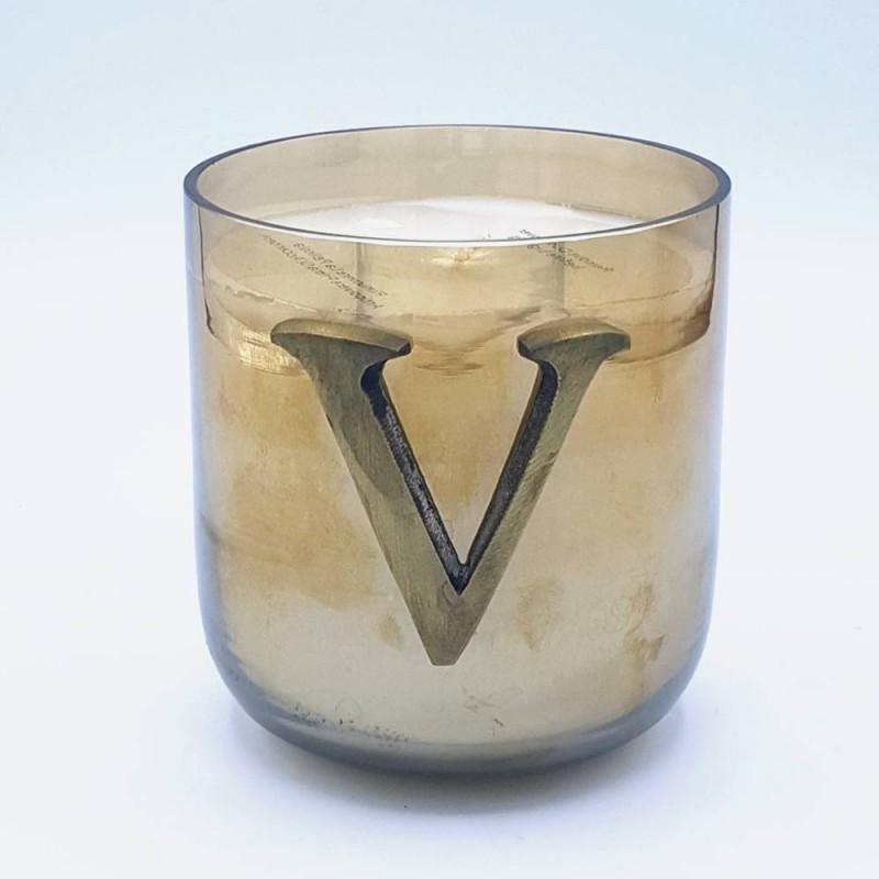 """Livellara Letter Candle """"V"""""""