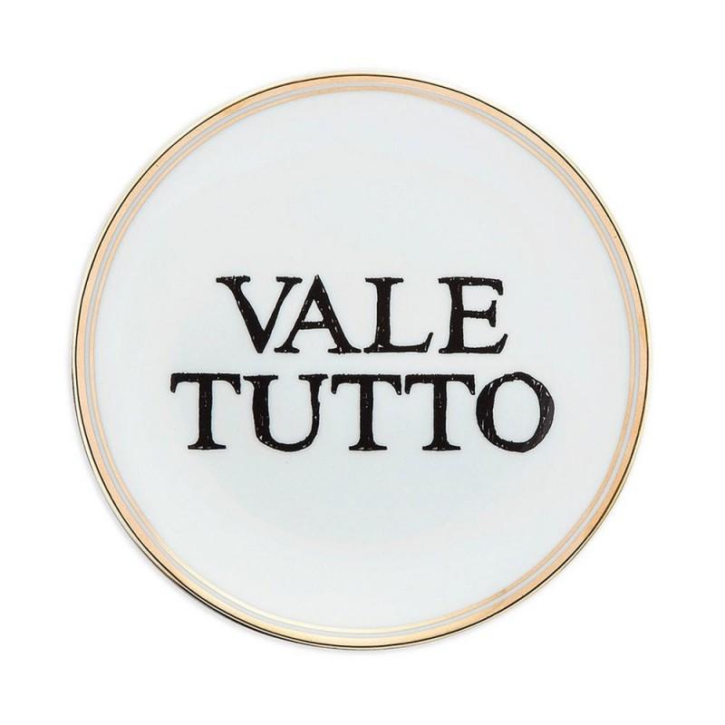 """Bitossi - Piatto """"Vale tutto"""" 17 cm"""