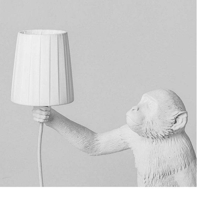 Seletti - Paralume in poliestere Monkey Lamp white