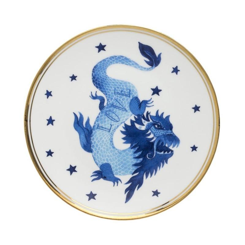 Bitossi home - piatto drago 17cm