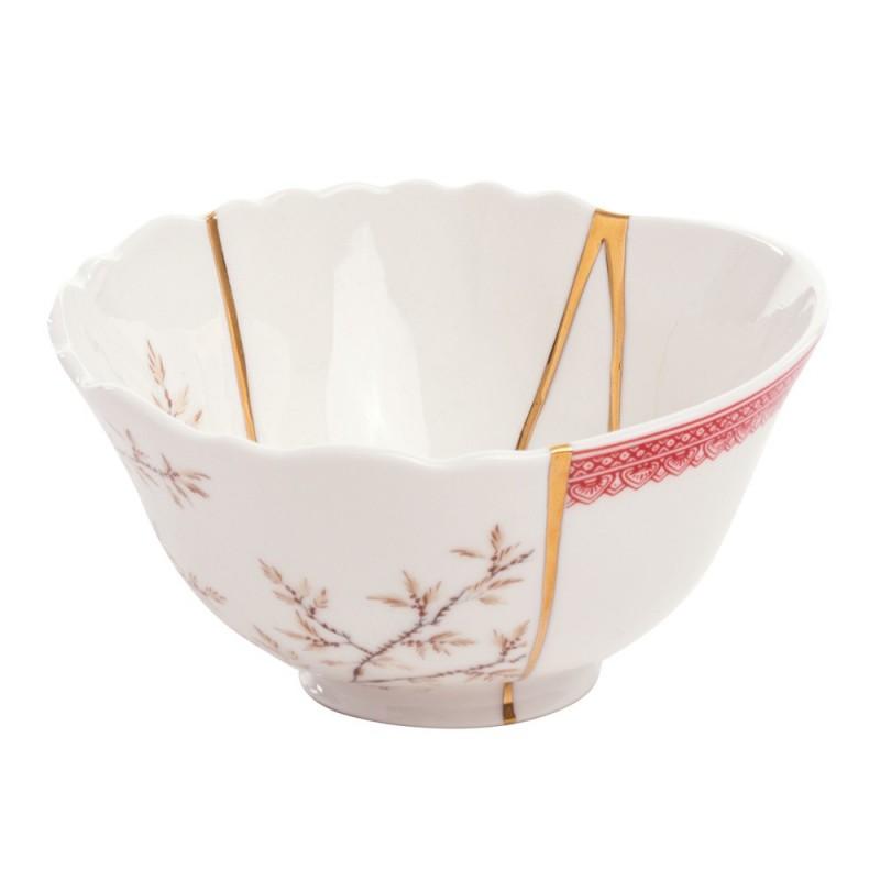 Seletti - ciotola portafrutta in porcellana Kintsugi