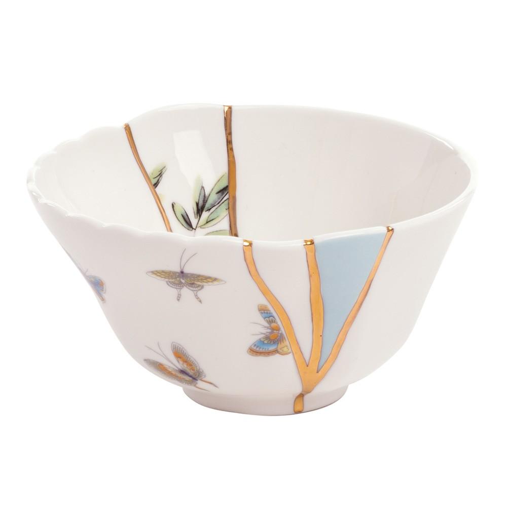 "Arte Giapponese Del Kintsugi seletti ciotola portafrutta in porcellana ""kintsugi"" Ø11,5 x h6 cm"