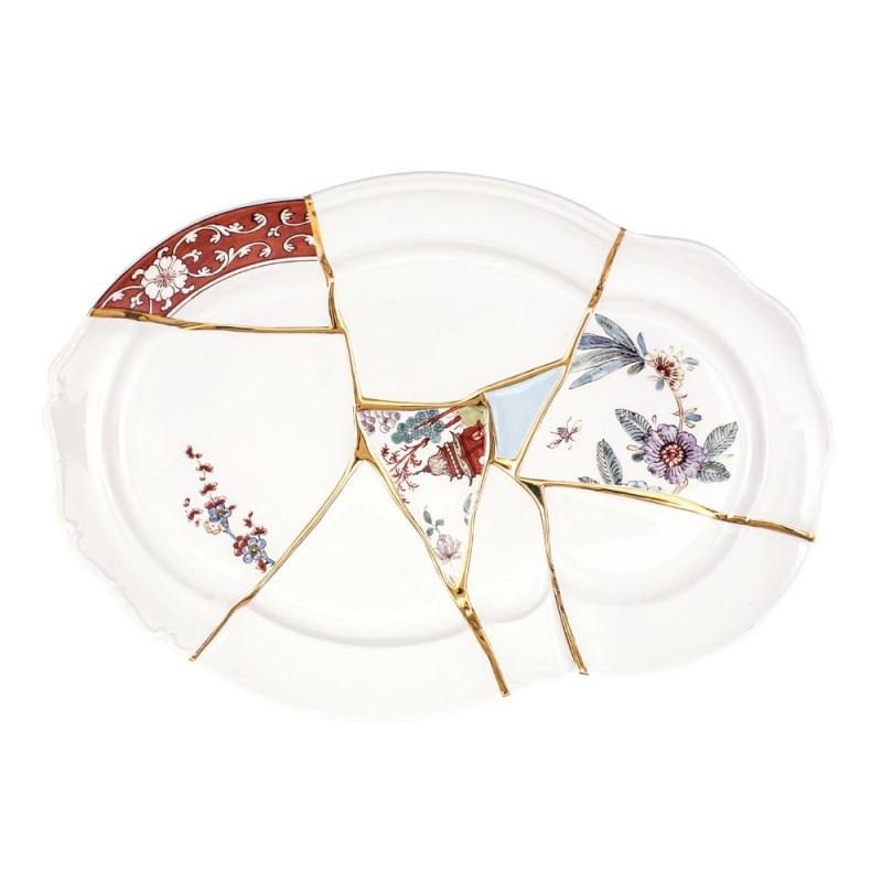 Seletti - vassoio in porcellana Kintsugi