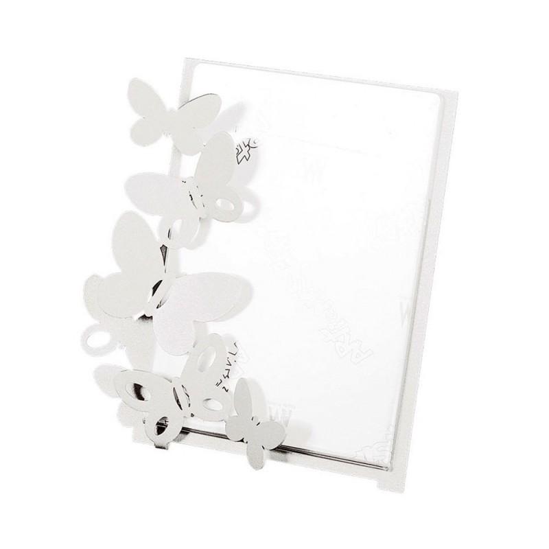 Arti e Mestieri - Portafoto Butterfly grande bianco