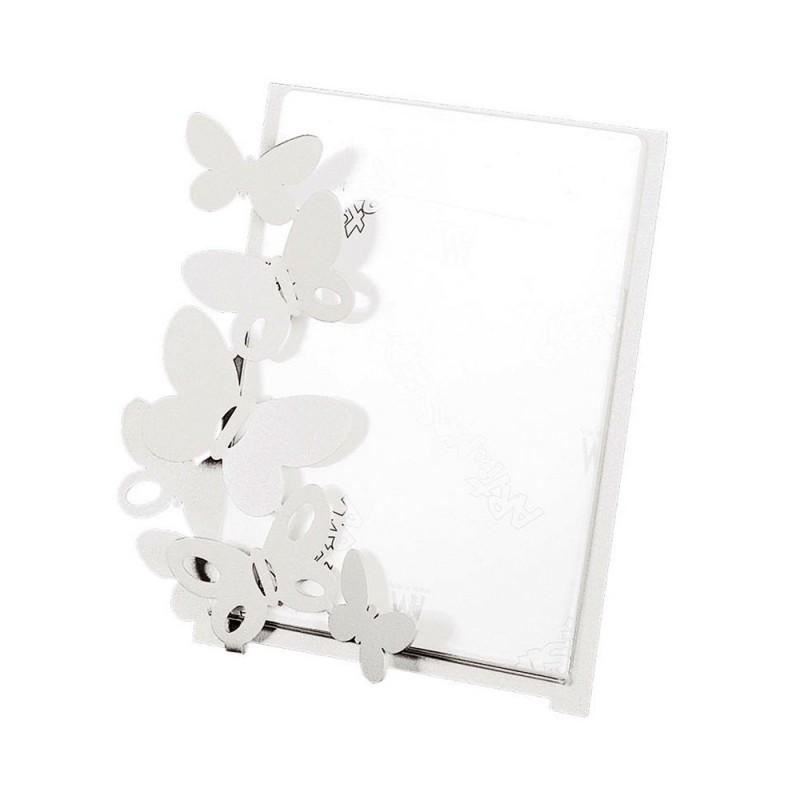 Arti e Mestieri - Portafoto Butterfly piccolo bianco