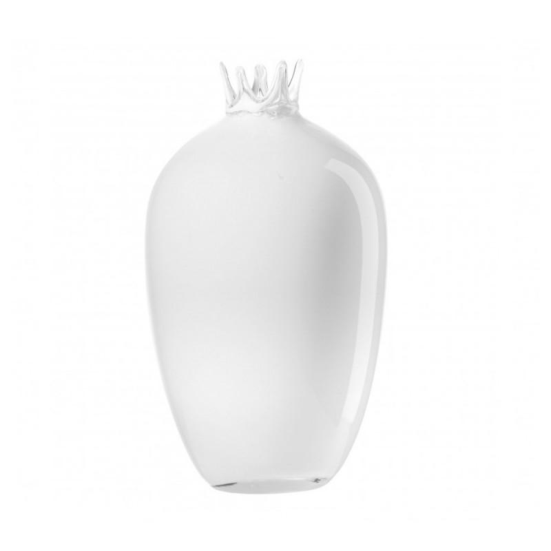 L'Oca Nera - Vaso alto in vetro bianco