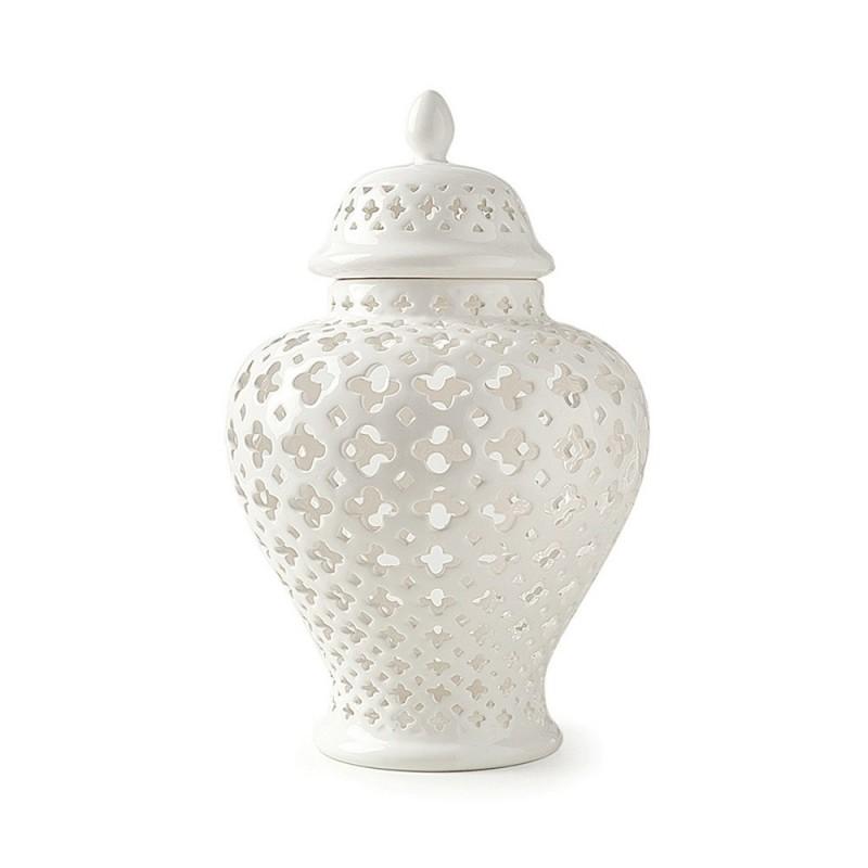 Hervit Potiche - porcellana traforata 13x20cm