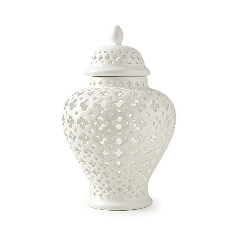 Hervit - Potiche porcellana traforata 40x69cm