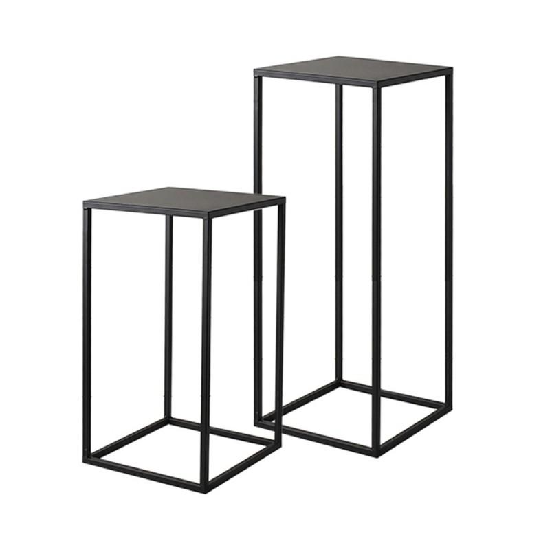 Hervit - Set 2 tavolini 30x30x53cm + 35x35x73cm