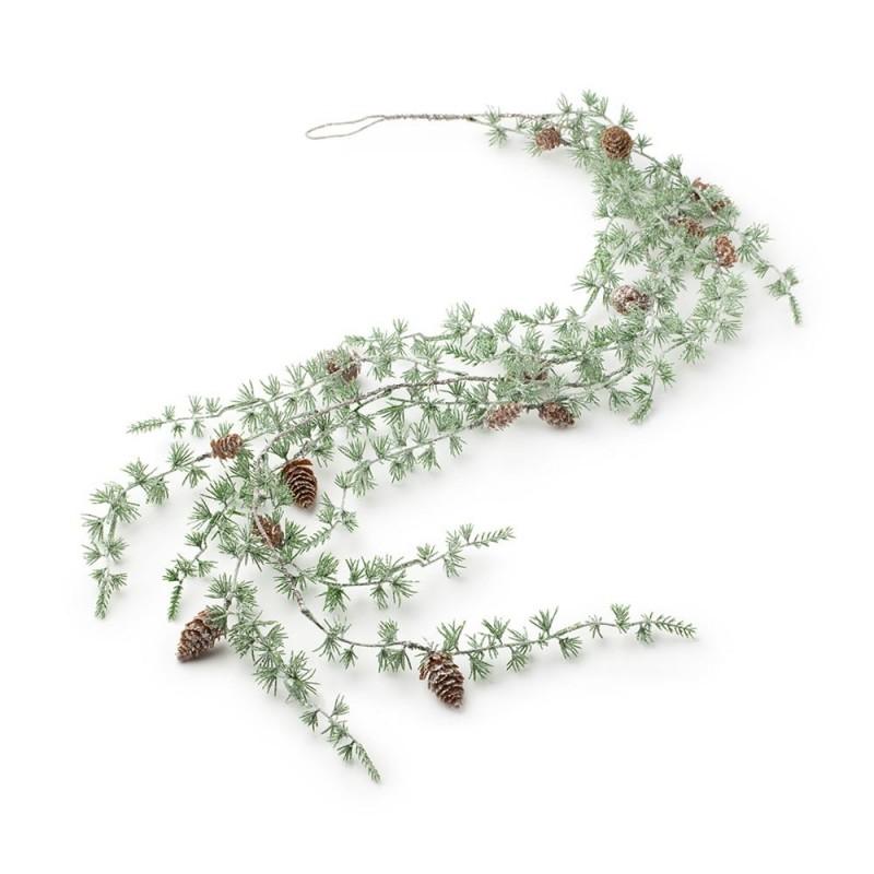 Hervit - Festone Pino artificiale verde 120 cm