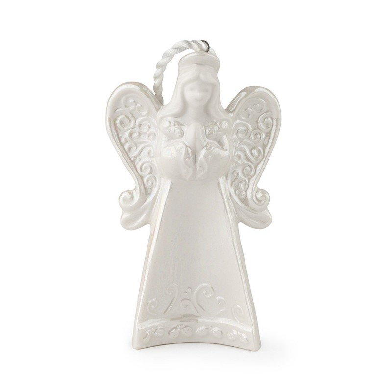 Hervit - Angelo pendente in porcellana 10 cm