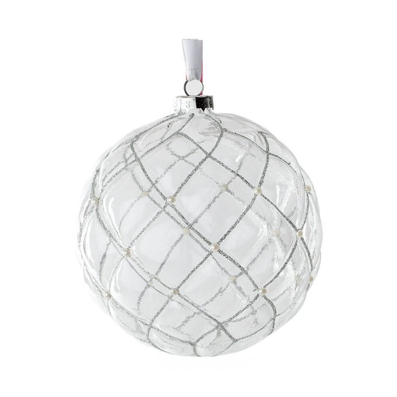 Hervit - sfere vetro chester trasparenti 15 cm