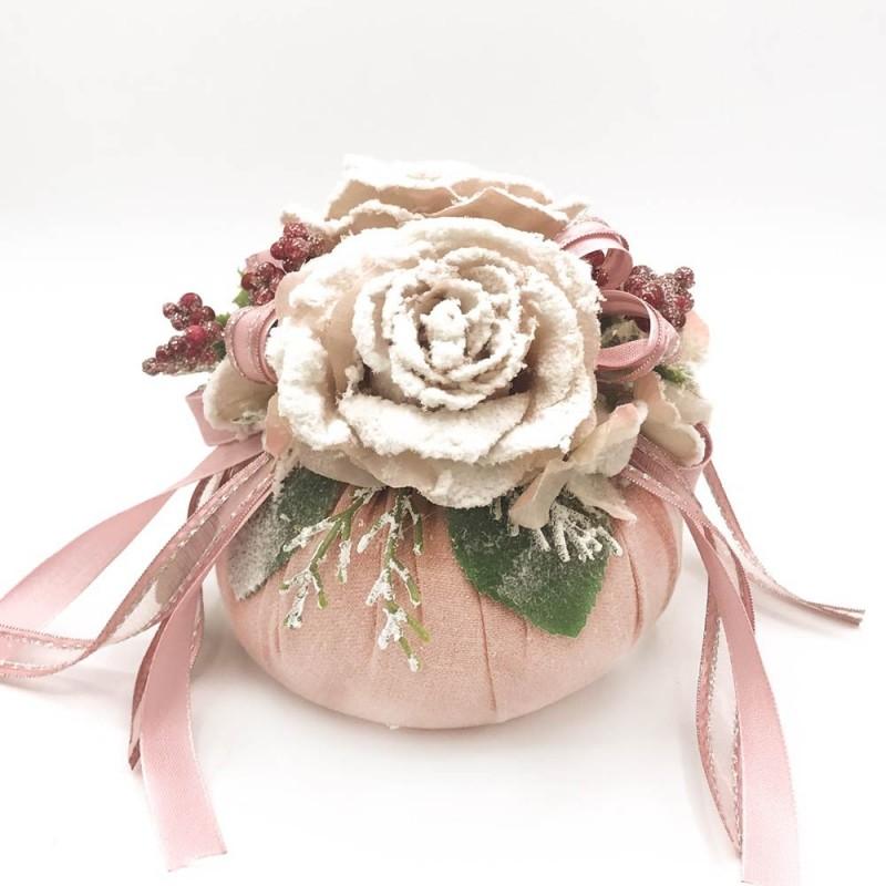 Fiori di Lena - Pouf rosa natalizio
