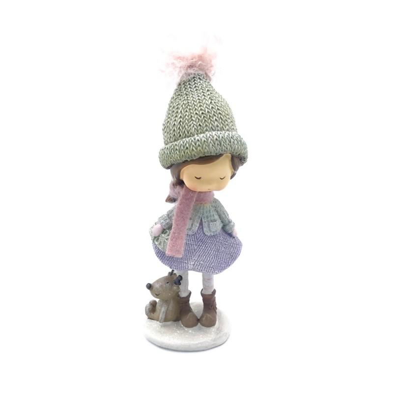 Paben - Statuina bambina con renna