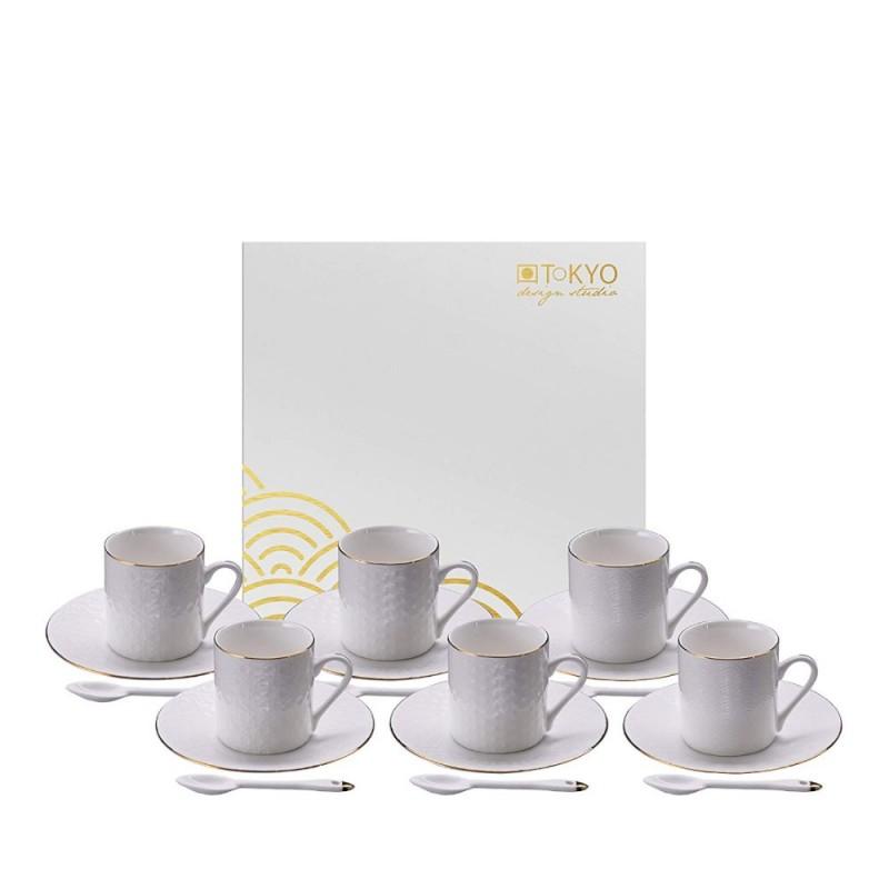 Tokyo design studio - Nippon white espresso set tazzine 18 pz