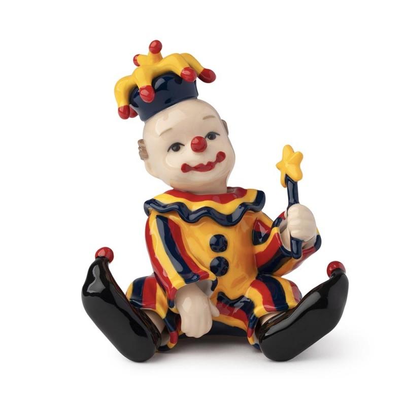 Hervit clown seduto in...