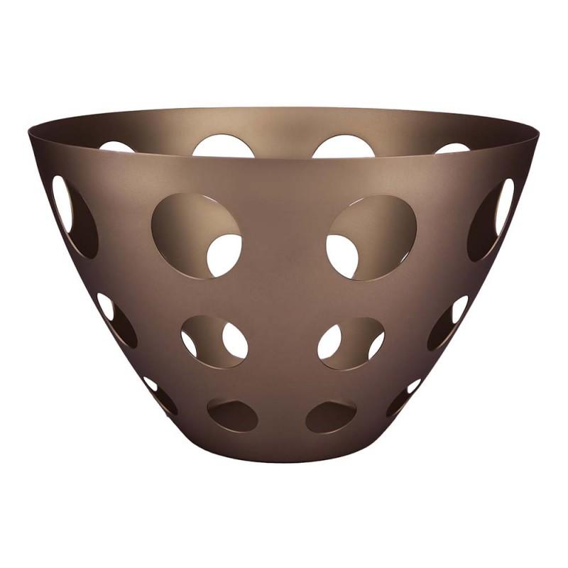 Mepra vaso forato cestello portafrutta linea bronzo Atmosfera