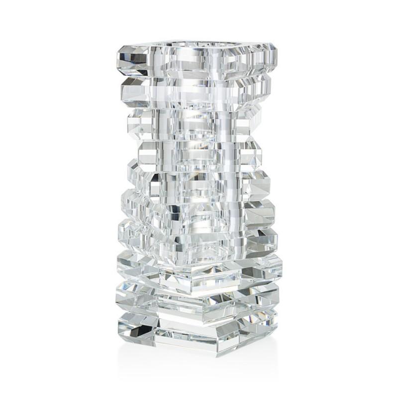 Vaso a spirale in cristallo...