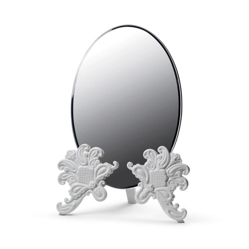 Specchio toeletta bianco in...