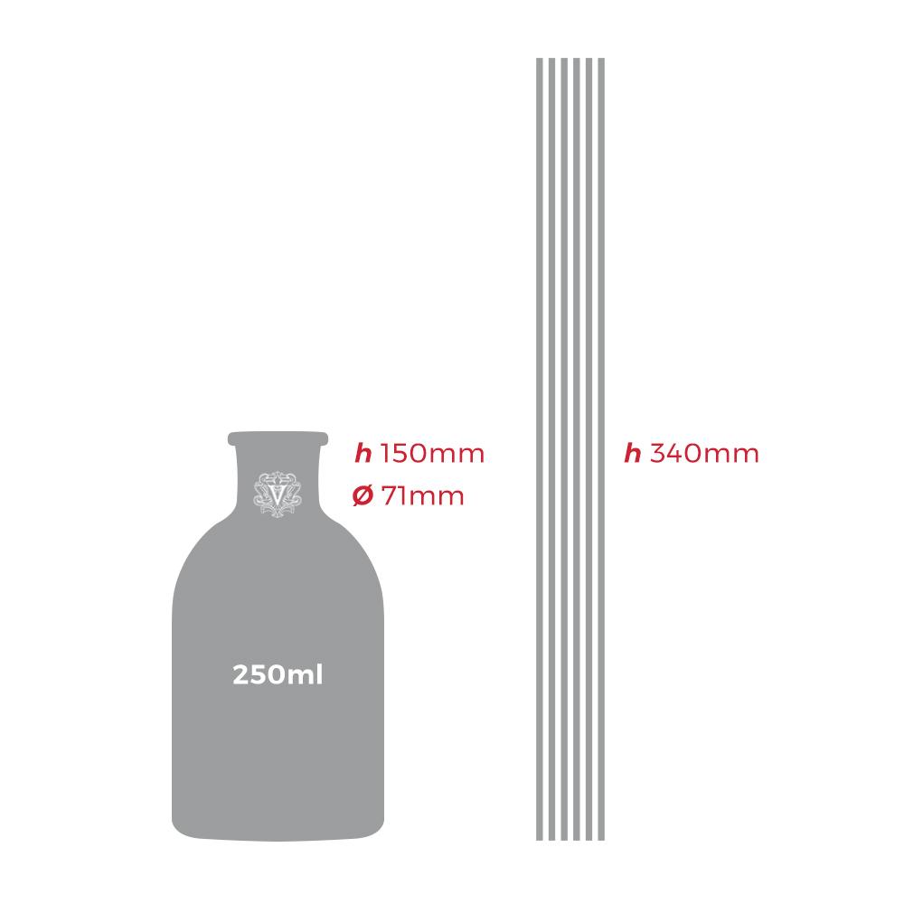 Dr. Vranjes - Diffusore di fragranza ROSSO NOBILE 250ml - dimensioni