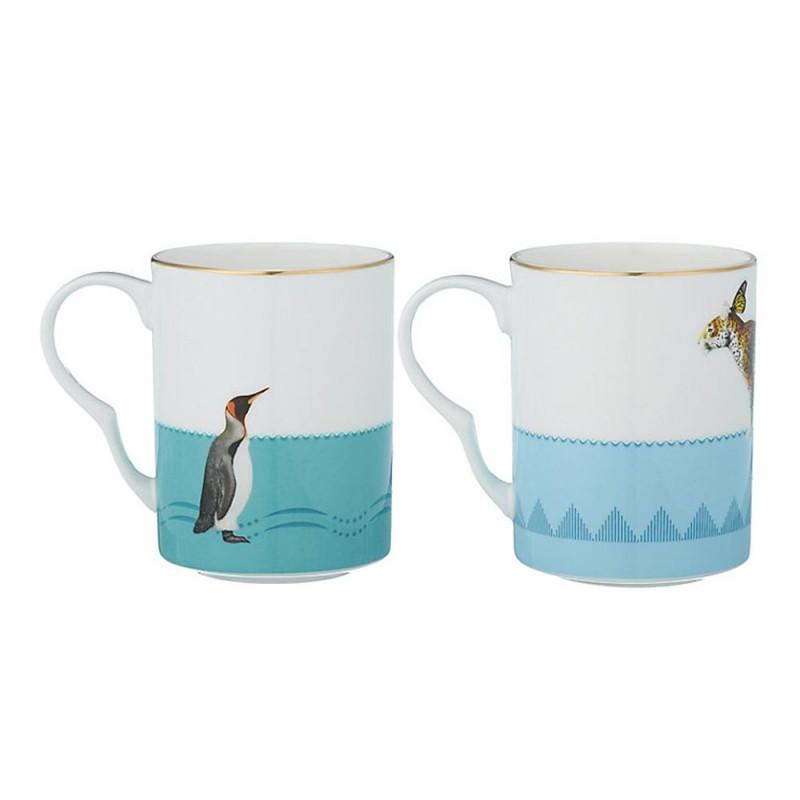 Set 2 mug Ghepardo e Pinguino