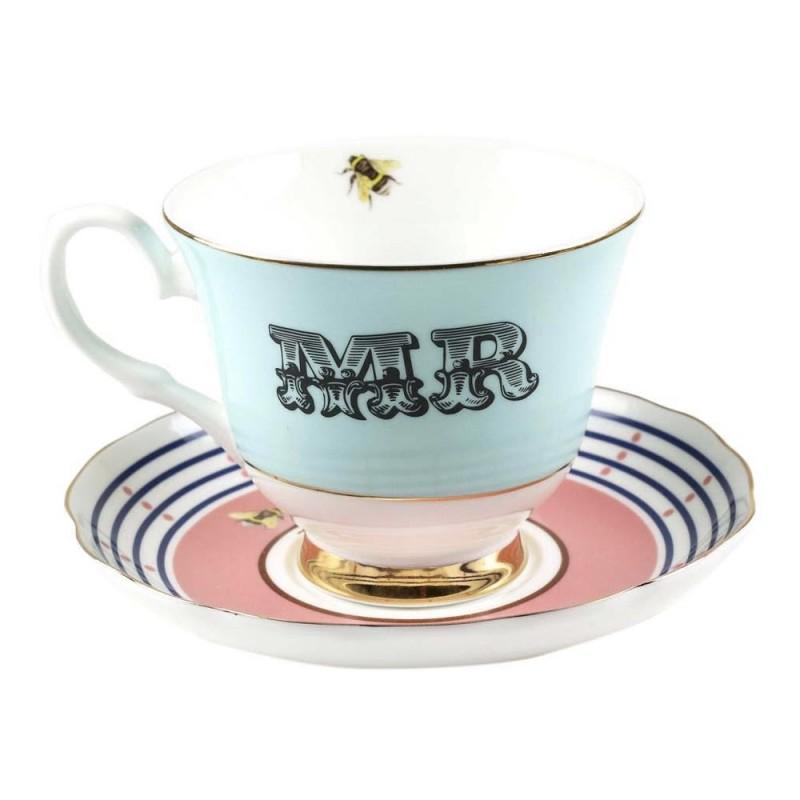 Tazza da tè con piattino Mr