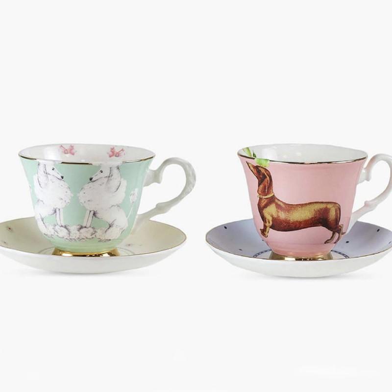 Set 2 tazze da tè con...