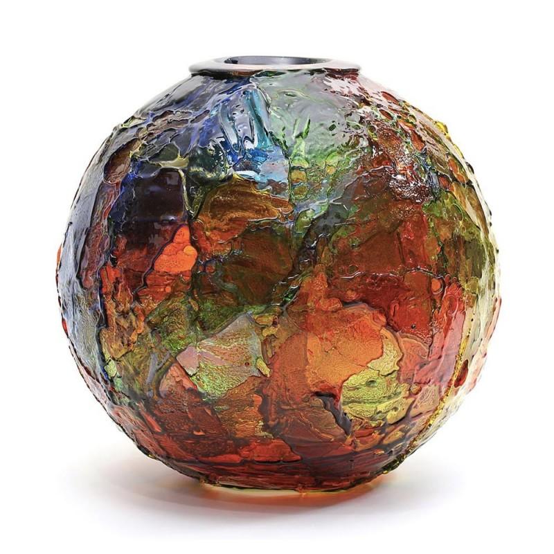 Vaso Geacolor in vetro di...