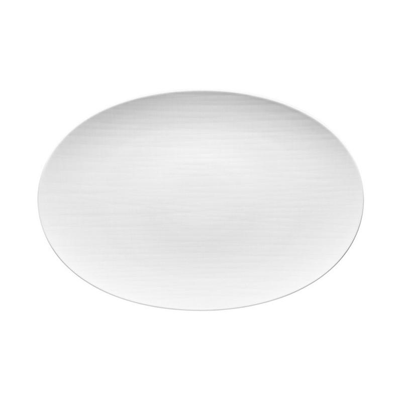 Piatto ovale bianco Mesh 42cm