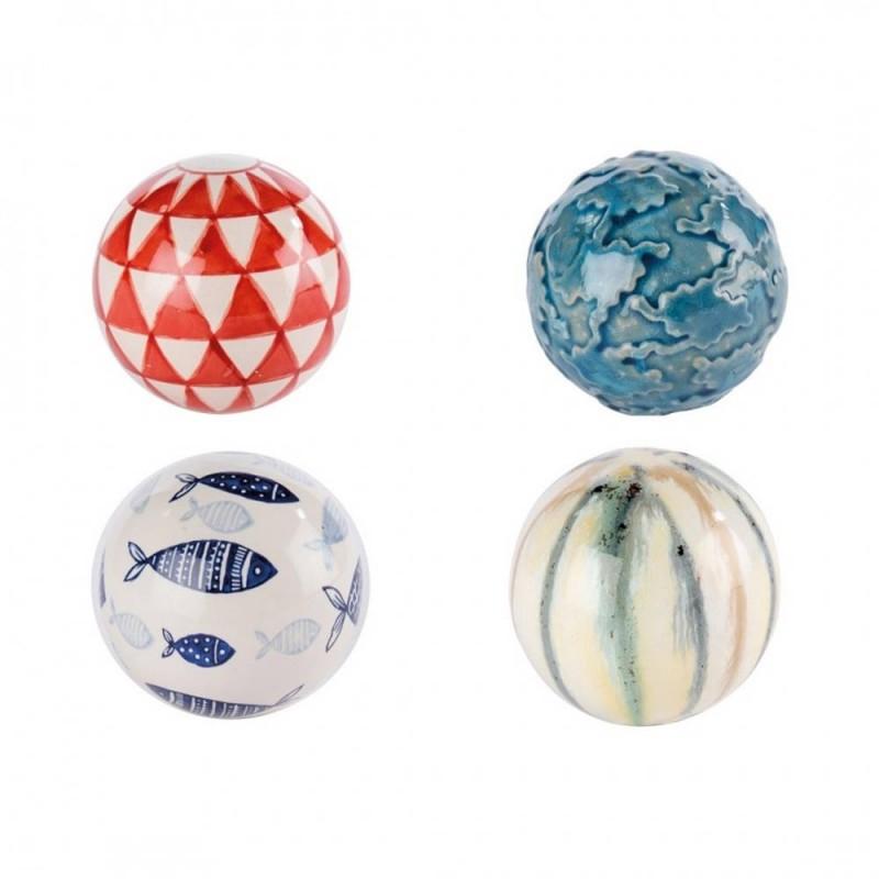 Set 4 sfere fermacarta