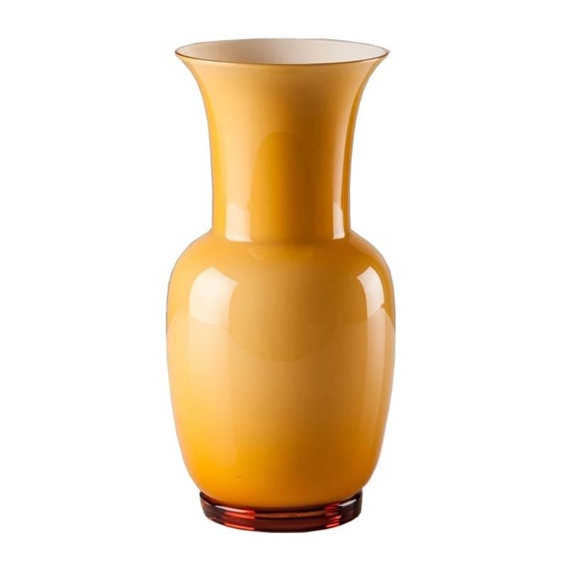 706.24 AA LA-Venini vaso Opalino ambra interno lattimo Ø20cm Candida Celiento