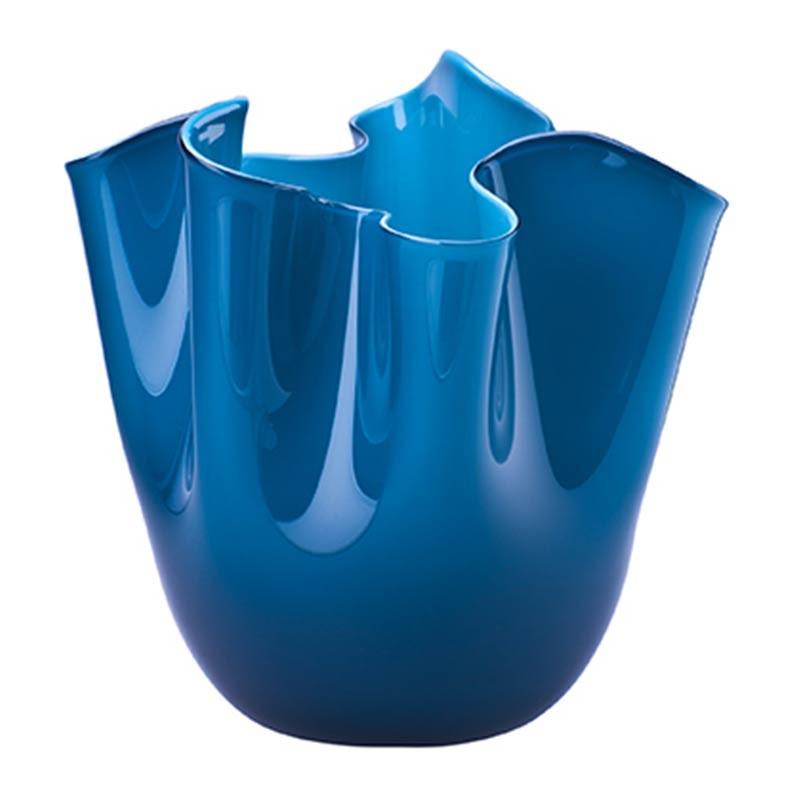 700.02 OZ-Venini vaso Fazzoletto Opalino orizzonte Ø20cm Candida Celiento