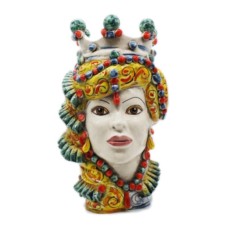TEMB001/L35-Verus Ceramiche Testa di Moro donna Elegance multicolor Candida Celiento