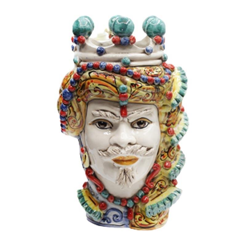 TEMB001/M35-Verus Ceramiche Testa di Moro uomo Elegance multicolor Candida Celiento