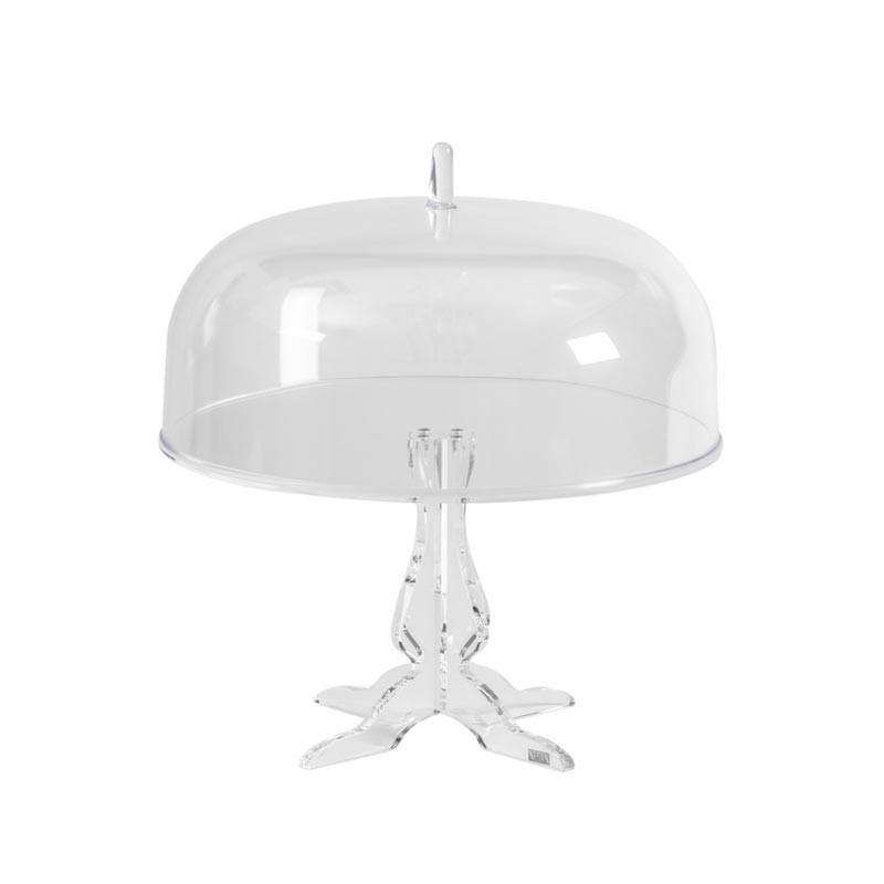 0080400-Vesta alzata piccola con campana Like Water in plexiglass trasparente Candida Celiento