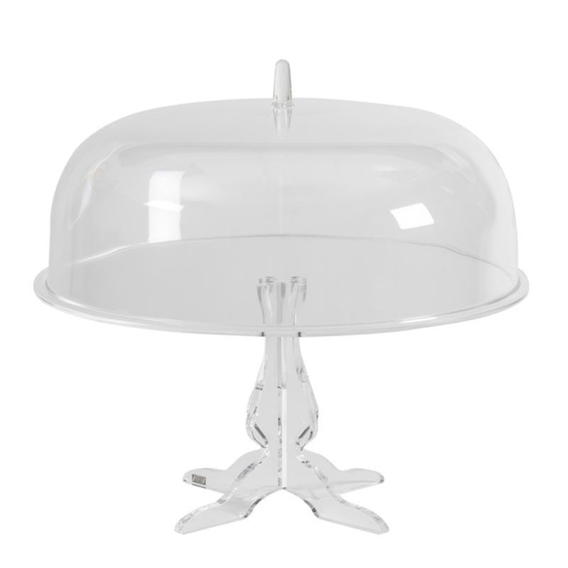 0200400-Vesta alzata grande con campana Like Water in plexiglass trasparente Candida Celiento