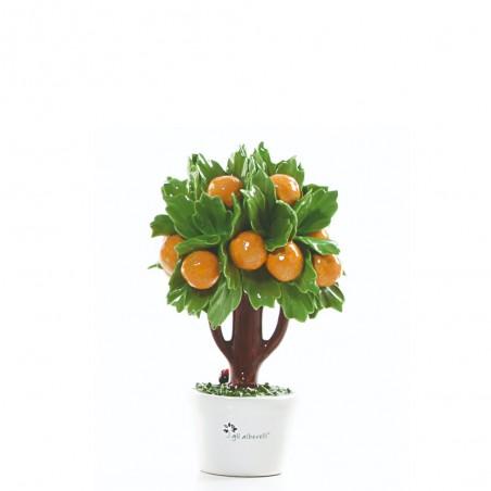 Candida Celiento - Gli Alberelli, albero porcellana - decoro ARANCIO - Piccolo - foto-1