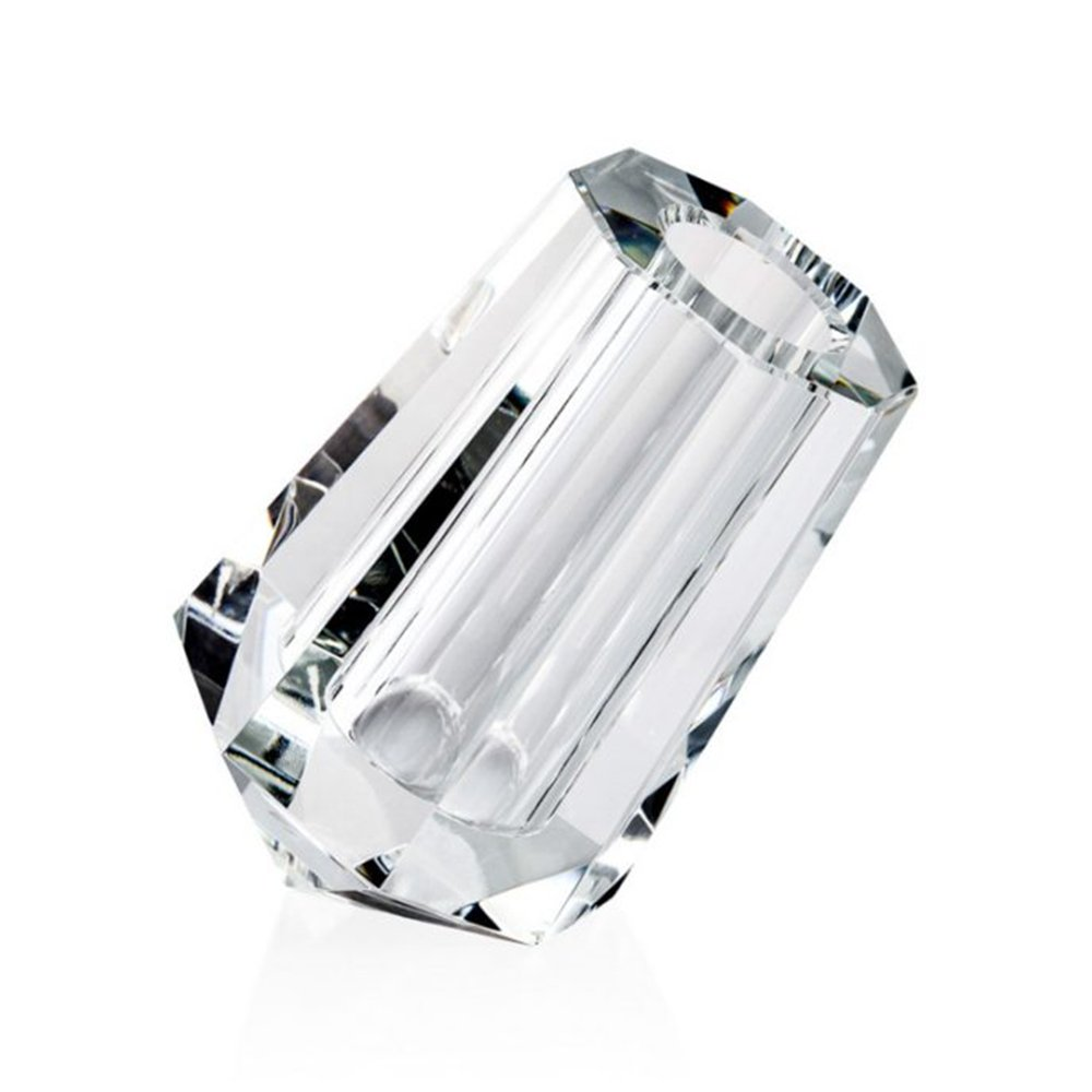 Candida Celiento - Emò Italia, vaso trasversale in cristallo linea Acqua 9x14cm
