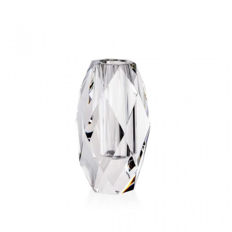 Candida Celiento - Emò Italia, vaso trasversale in cristallo linea Acqua 12x22cm