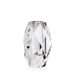 Candida Celiento - Emò Italia, vaso trasversale in cristallo linea Acqua 7x11cm
